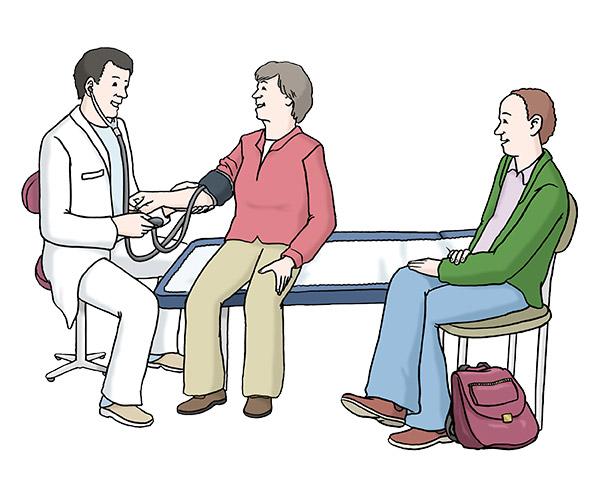 Betreuung beim Arzt