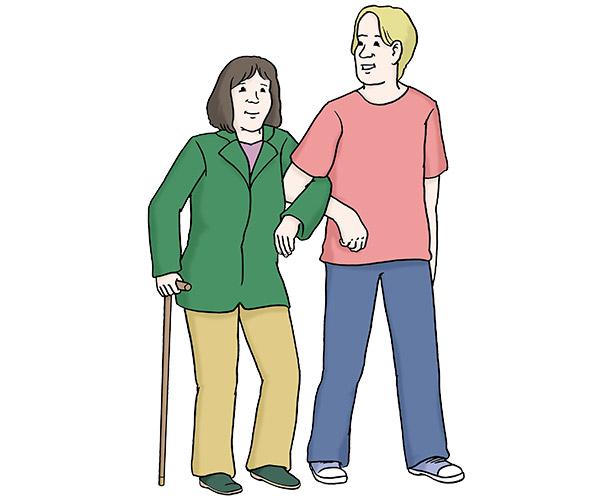 Seniorenbetreuung - Hilfe beim Gehen