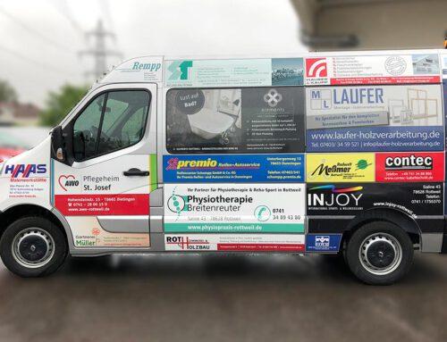 Neues sponsorenfinanziertes Fahrzeug
